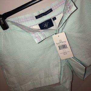 NWT Lauren James Seersucker Poplin Shorts